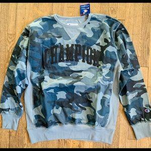 Champion grey camo XLT sweater ! Brand new !